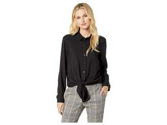 Vince Camuto Flowy Rumple Tie-Front Button Down Shirt