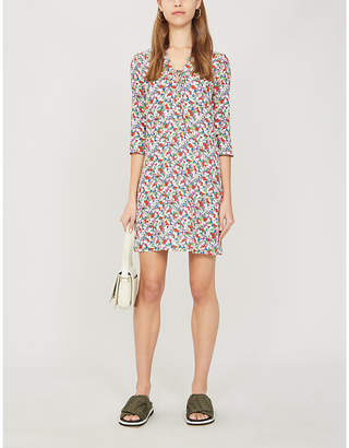 Claudie Pierlot Renzi floral-print crepe mini dress