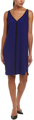 Elie Tahari Silk-Trim Shift Dress