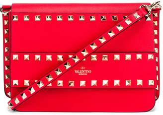 Valentino Rockstud Crossbody Camera Bag in Red | FWRD