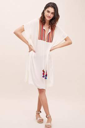 188123a07f Bl Nk Leslie Embroidered Cover-Up Kaftan