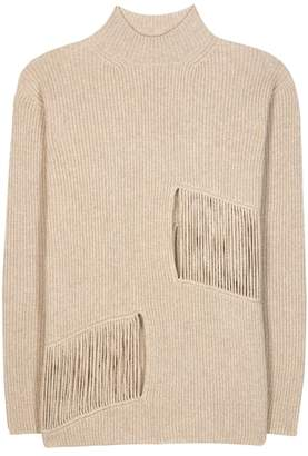 Stella McCartney Distressed cashmere and wool sweater