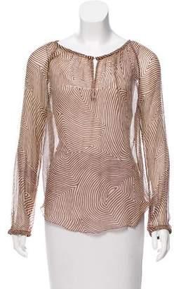 Etoile Isabel Marant Printed Sheer Top