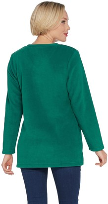 Factory Quacker V-Neck Holiday Fleece Pullover