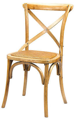 French Heritage Bosquet Oak Side Chair - Almond