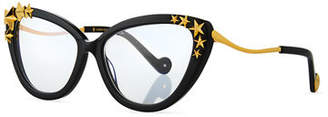 Karlsson Anna-Karin Lily Love Nouveau Acetate Optical Frames w/ 3D Star Trim