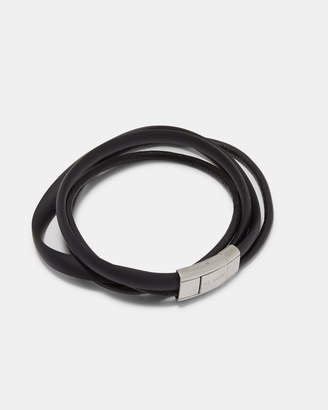 At Ted Baker Mera Matte Rubber And Leather Bracelet