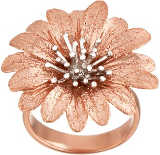 Italian Silver Sterling Flower Ring