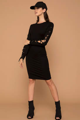 KENDALL + KYLIE Ardene Kendall & Kylie Midi Lace Up Dress
