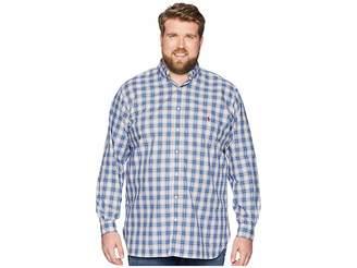 Polo Ralph Lauren Big Tall Poplin Button Down Pony Player Long Sleeve Sport Shirt