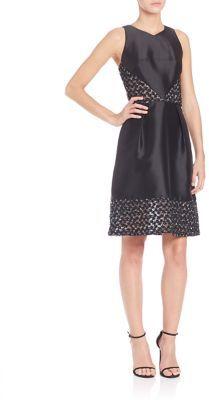 Theia Sleeveless Short Dress $595 thestylecure.com