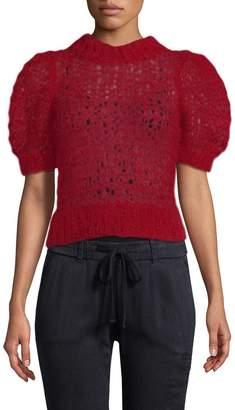 Jill Stuart Women's Mohair Crop Sweater