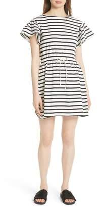 Kate Spade Striped Tie Waist Flutter Dress