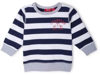 Sprout NEW Boys Essential Crew Neck Sweat - Champion/ Navy Stripe