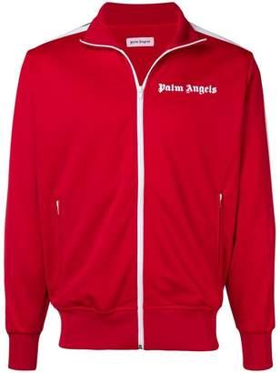 Palm Angels stripe trim zip-up jacket