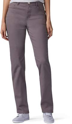 Lee Petite Instantly Slims High Waisted Straight-Leg Jeans