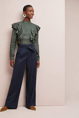 Anthropologie Brexton Belted Wide-Leg Pants