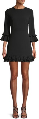 BB Dakota Wine And Dine Flounce Mini Dress
