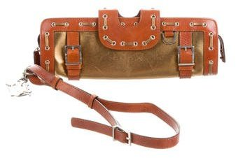 Versace Metallic Leather Clutch