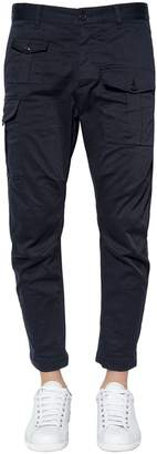 DSQUARED2 16cm Cargo Stretch Cotton Twill Pants