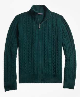 Brooks Brothers Merino Wool Cable Full-Zip