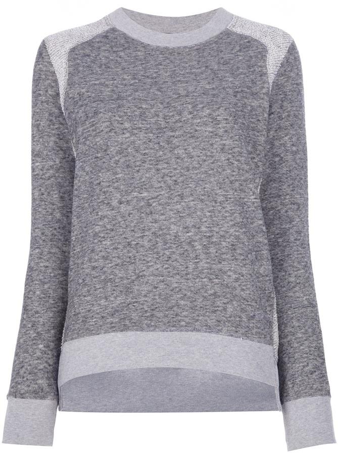 Theory 'Goleta' paneled sweater