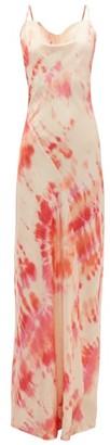Rat & Boa - Ariel Tie Dye Satin Maxi Dress - Womens - Pink