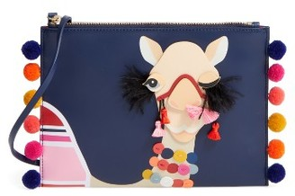 Kate Spade New York Winking Camel Leather Pouch - Black $198 thestylecure.com