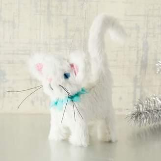 west elm ASPCA® White Coffee Cat Ornament