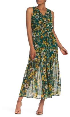 ECI Floral Sleeveless Maxi Dress