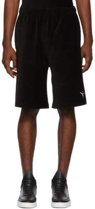 Alexander Wang Black Velvet Ribbed Shorts
