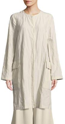 Eileen Fisher Roundneck Tunic Jacket
