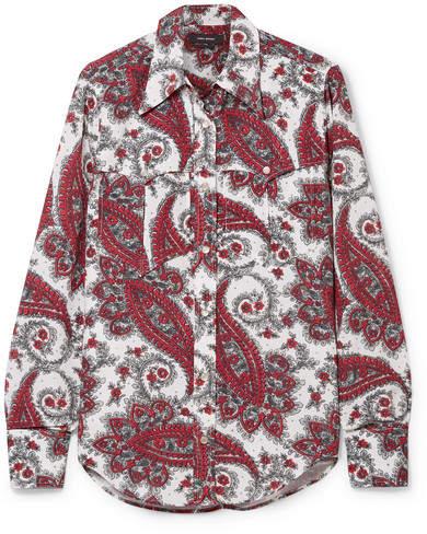 Isabel Marant - Tania Printed Crepe De Chine Shirt - Red