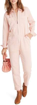 Madewell Zip Front Coverall Jumpsuit