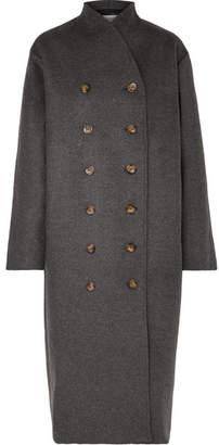 Totême Bergerac Oversized Double-breasted Wool-blend Felt Coat - Dark gray