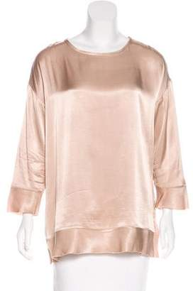 By Malene Birger Raw-Edge Satin Top