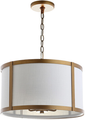 Jonathan Y Designs Designs 4-Light Thatcher Gold & White Pendant