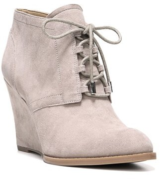 Franco Sarto 'Lennon' Lace Up Wedge Bootie (Women) $97.27 thestylecure.com