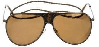 Bottega Veneta Interecciato Aviator Sunglasses