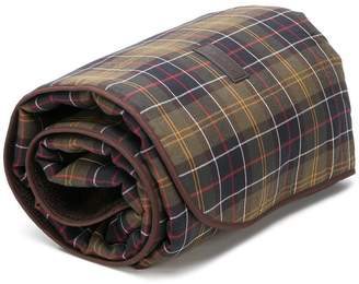 Barbour tartan print dog blanket