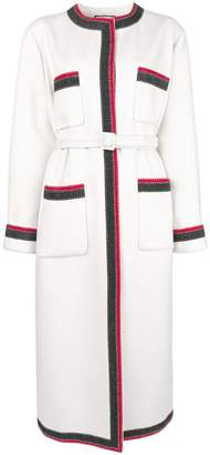 Gucci contrast trim midi coat