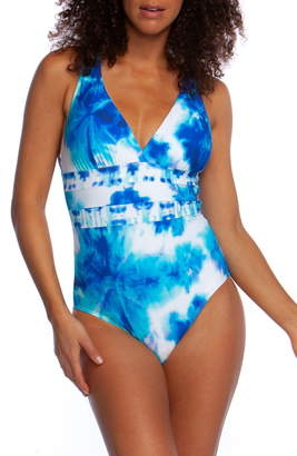 La Blanca Glow Cross Back One-Piece Swimsuit