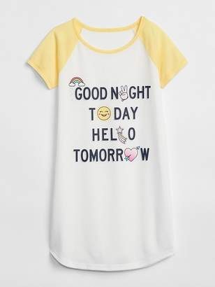 Gap Emoji PJ Dress
