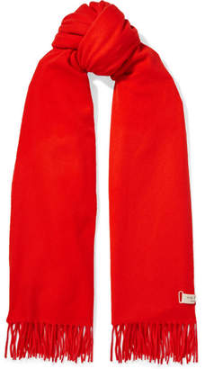 Rag & Bone Fringed Wool Scarf - Tomato red