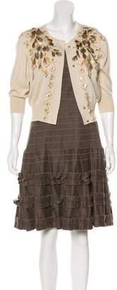 Oscar de la Renta Embellished Dress Set