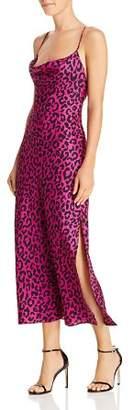 Milly Jillian Silk Leopard Dress
