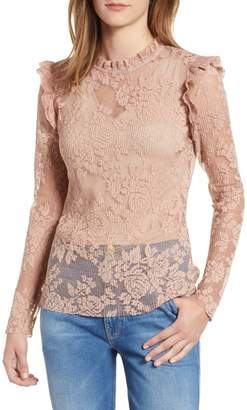 Chelsea28 Sheer Lace Top