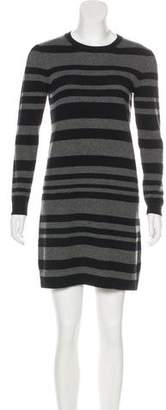 Theory Striped Cashmere Sweater Dress