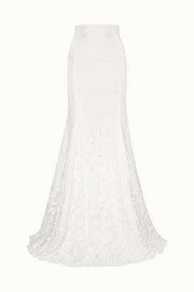 Rime Arodaky - Salem Embroidered Tulle And Crepe Maxi Skirt - White