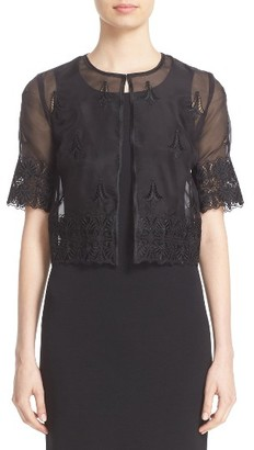 Women's St. John Collection Embroidered Silk Organza Jacket $1,195 thestylecure.com